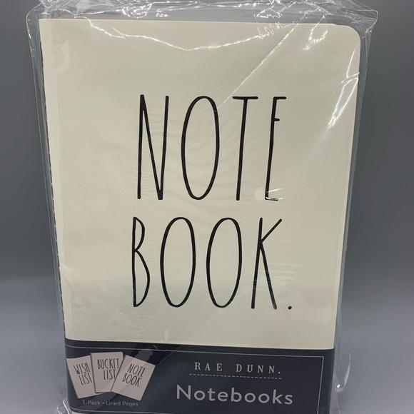 Rae Dunn Notebook 3 Pack